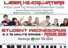 Student Wednesdays! Port Elizabeth Central Kids Party Venues 3