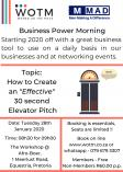 Business Power Morning Elarduspark Corporate Event Planning & Management _small