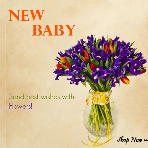 Send a living message to send wishes to the new parent(s)